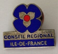 Conseil Regional Ile-De-France Pin Badge Rare Vintage (J7)