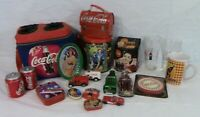 COCA-COLA COKE COLLECTIBLES COLLECTION - Insulated soft-side cooler,glasses tins