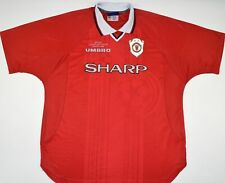 1999 MANCHESTER UNITED CHAMPIONS LEAGUE UMBRO HOME FOOTBALL SHIRT (SIZE XXL)