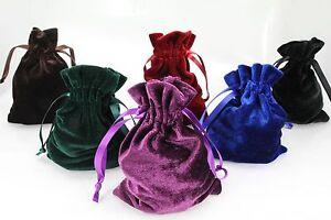 "10pcs Medium 4""x6"" Velvet Bags, Jewelry Wedding Party Gift, Drawstring Pouches"