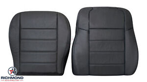 2010 Dodge Charger -Driver Side Bottom & Lean Back Leather Seat Covers Dark Gray