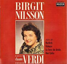 "DECCA SXL 6.033, BIRGIT NILSSON ""CHANTE VERDI"" 1963 STEREO LP NEUF !"