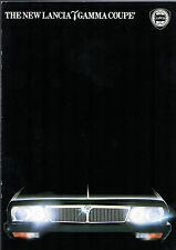 Lancia Gamma Coupe 2500 IE 1982 UK Market Sales Brochure