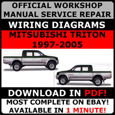 # OFFICIAL WORKSHOP Service Repair MANUAL for MITSUBISHI TRITON 1997-2005 #