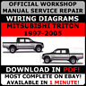 OFFICIAL WORKSHOP Service Repair MANUAL for MITSUBISHI TRITON 1997-2005