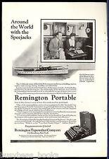 1923 Remington Typewriter advertisement, REMINGTON portable, Speejacks ship