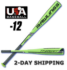 "2019 Rawlings THREAT Youth USA 31""/19 oz Composite 2-5/8"" Bat US9T12 >2-DAY SHIP"