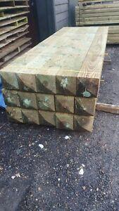 Wooden Timber Gate post 2400 x 175mm x 175mm Beam