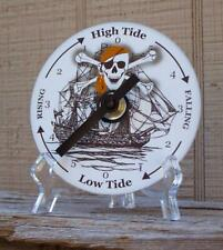 Tide Clock - Atlantic Coast High & Low - Pirate Skull Crossbones - CD - Unique
