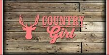 Girls Vinyl Wall Banner Children's Bedroom Decor Kids Room Art Country Girl
