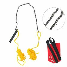 "Rope-and-Chain Saw 24"" High Limb Hand Chain Saw w/Blade Sharpener Rope Pouch Bag"