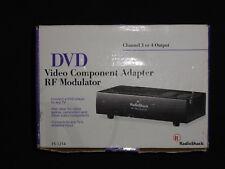 DVD Video Component Adapter, RF Modulator Model #15-1214 by Radio Shack
