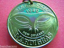 Rare 1974 Bal Masque 25th Anniversary Green Aluminum 8g Mardi Gras Doubloon