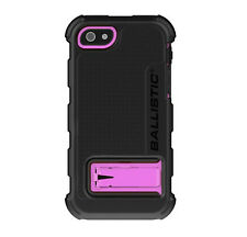 NEW Ballistic iPhone 5 Hard Core Clip Rugged Case Cover - Black & Pink