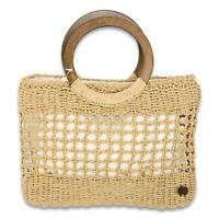 Billabong Womens Date Night Straw Tote Bag Natural One Size New