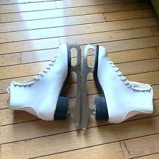 Slm Canada Women's Ice Hockey Skates Shoes Figure Skates White Size 9