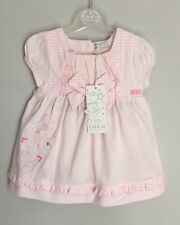 Coco Pink Gingham Trim Baby Dress + Matching Knickers Set BNWT Size 0-3 Months