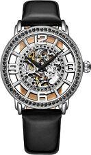 Stuhrling Mujer 3941 Vestido esqueleto automática viento 38mm Reloj De Cuero