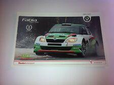 CP POSTCARD CARTOLINA SKODA FABIA HANNINEN RALLY MONTE CARLO RALLYE WRC 2011