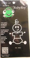 NEW Family Car Clear Decal/Sticker - Funny Baby Boy Stick Figure
