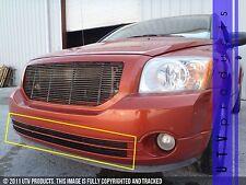 GTG 2006 - 2011 Dodge Caliber 2PC Gloss Black Overlay Bumper Billet Grille Kit
