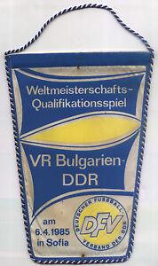 Wimpel WM-Qualifikation 06.04.1985 Bulgarien - DDR in Sofia