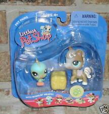 Littlest Pet Shop Blue BIRD #123 HORSE #124 2005 RET