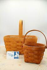 Longaberger Set of 2 Baskets 1996 / 1990