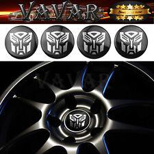 HOT 4pcs 60mm Transformers Autobot Wheel Center Hub Caps Emblem Badge Stickers