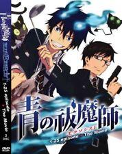 DVD Blue Exorcist Vol 1-25 + The Movie English Dubbed Subtitle Japanese Anime
