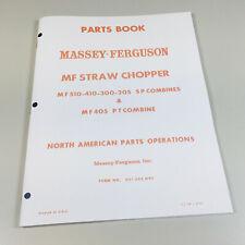 Massey Ferguson Straw Chopper Parts Catalog Manual 510 410 300 205 405 Combine
