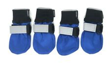 Dog Boots All Season Waterproof Shoes Booties Medium Lonsuneer Blue/Black NEW