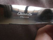 """Christofle : 1 couteau de table en métal argenté modèle """" MARLY """""""