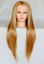 """(USA)  30"""" Cosmetology Mannequin Synthetic Hair Human Head Standard Size Kelly e"""