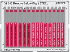 EDUARD MODELS 1/32 Aircraft- Remove Before Flight Steel (Painted) EDU32886
