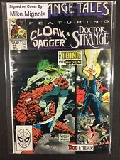 Strange Tales Marvel Comics Signed/Autographed By Mike Magnolia Issue#19