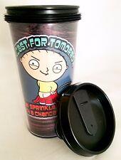 "Family Guy Stewie Peeing Acrylic Travel Mug 16oz iCup ""Forecast Sprinkles Doom"""