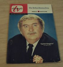 1970 The DALLAS MORNING NEWS Weekly 'TV' Magazine~Captain Kangaroo~