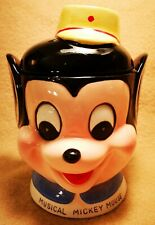 VERY RARE COLLECTIBLE Vintage **1960's** Disney Mickey Mouse Musical Cookie Jar