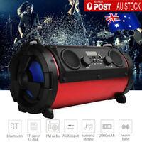 Portable Wireless bluetooth Speaker Waterproof Power Bank Bass FM Radio TF