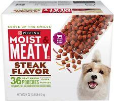 Purina Moist & Meaty Dog Food, Steak Flavor, 216-Ounce Box, Pack of 1, New