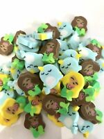 60 Mini Erasers Spring Snail Bees Frogs Teacher Supply Sorting Math Counter Kids