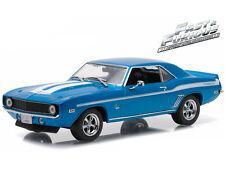 1/43 Greenlight Fast & Furious Brian's 1969 Chevy Yenko Camaro Blue 86206