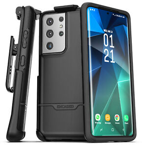 Samsung Galaxy S21 Ultra Belt Clip Case Protective Phone Holster Case Black