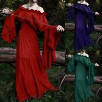 Vintage Women Medieval Dress Cosplay Costume Princess Renaissance Gothic Dress