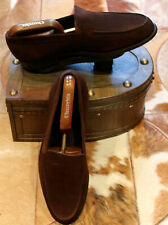 John Lobb 'Chester' Brown Suede Shoes - UK8.