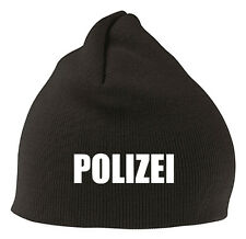 POLIZEI Mütze Beanie - Edel Bestickt - Stitch - Fan Mütze