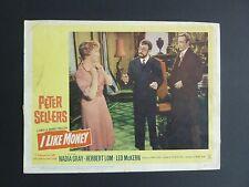 Vintage 1962 I LIKE MONEY Original Movie LOBBY CARD POSTER Peter Sellers