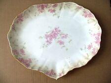 Royal Doulton Burslem Vanity / Dresser / Serving Plate with Pink Flowers 1895