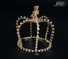 Cross Crystal Pearl Wedding Bridal Party Pageant Prom Tiara Crown